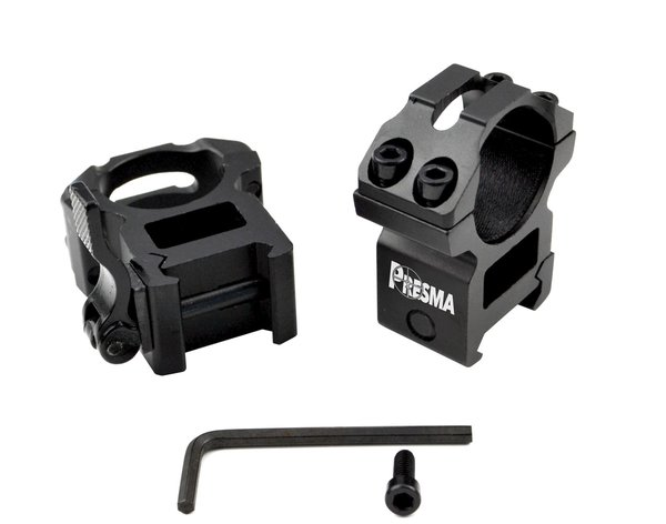 Presma® Wing Series, 1 inch Quick Release Scope Rings ...