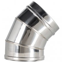 Maximus Oven stainless steel 45 ° flue joint bend