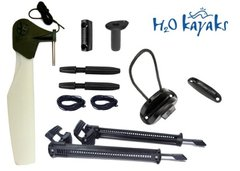 H2O Universal Kayak Rudder Kit