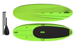 "Typhoon Surfer 9'9"" SUP Paddle Board & Paddle - Green  Free Paddle"