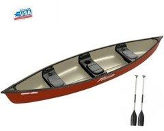 Sun Dolphin Scout 14' Elite Canoe Hazelnut Red