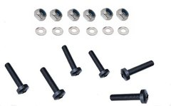 BLACK M5 A4 Stainless Steel Pozi Pan Screws, Washers and Lock Nuts (M)