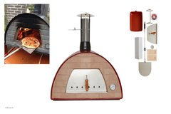 Maximus Red Woodfired Pizza Oven With FREE COVER