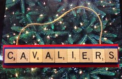 Cleveland Cavaliers Scrabble Tiles Ornament Handmade Holiday Christmas Wood