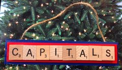Washington Capitals Scrabble Tiles Ornament Handmade Holiday Christmas Wood