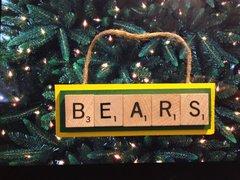 Baylor Bears Scrabble Tiles Ornament Handmade Holiday Christmas Wood