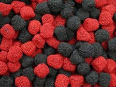 Haribo Raspberries and Blackberries
