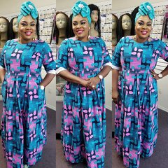 EMBELLISHED ANKARA DRESS-86