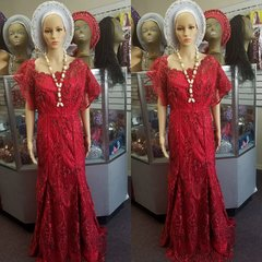 READY TO WEAR TULLE LACE DRESS-161