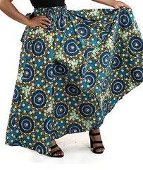 African Print Long Skirt -74