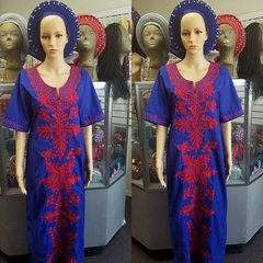 Embroidered Stoned Dress with scarf-160