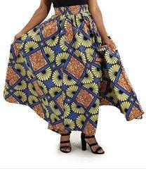 African Print Long Skirt -78