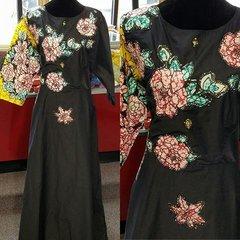 EMBELLISHED STONED ANKARA DRESS-16
