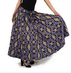 African Print Long Skirt -77