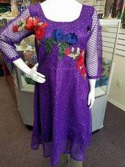 Floral Embellished Dress-67