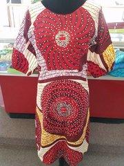 STONED ANKARA SHORT DRESS-25