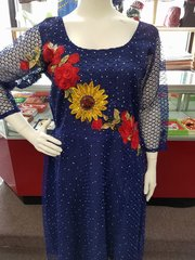 Floral Embellished Dress-66