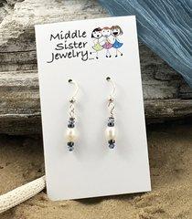 White Pearl Earrings - EPC6