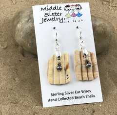 Cockle Shell Earrings - CESH6