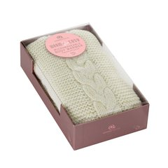 Aroma Home Cream Cable Knit Body Wrap