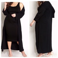 Midi Dress w/ Cardigan