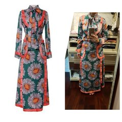 2-Piece Floral Top & Skirt