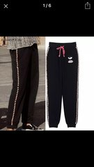 Pearl Embellished Sweat Pants