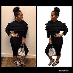 Little Black Ruffle Dress