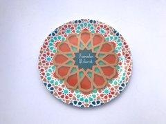 "Tangier Melamine ""Ramadan Mubarak"" 8"" Dinner Plates"