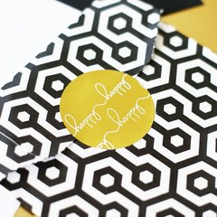 """Happy Happy"" Gold Foil Stickers"