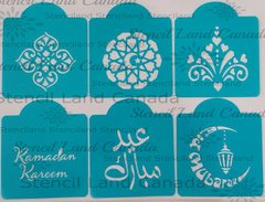 Ramadan & Eid Stencils, set of 6