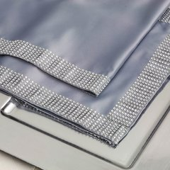 Silver Diamond Sequin Mesh Table Runner