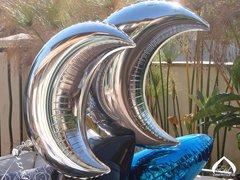 "Silver Crescent Mylar 36"" Balloon"