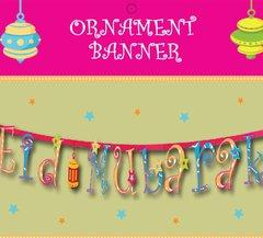 """Eid Mubarak"" Ornament Font Banner"
