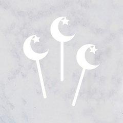 Crescent Moon & Star Acrylic Picks