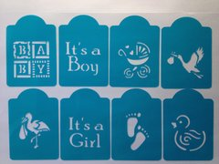 Baby Shower & New Baby Stencils, Set of 8