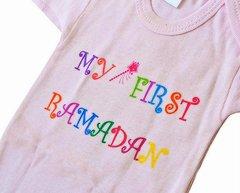 """""""My First Ramadan"""" Pink Onesie"""