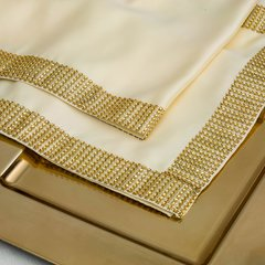 Gold Diamond Sequin Mesh Table Runner