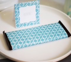 Candy Bar Wrapper - Blue