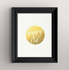 """Happy Eid"" Gold Foil Print"