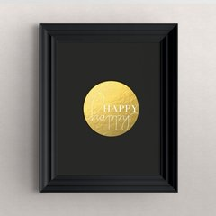 """Happy happy"" Decorative Art Print"