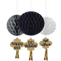 Ramadan & Eid Honeycomb Set with Gold Tassels