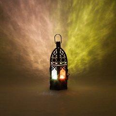 "8"" Black Ramadan Lantern Candleholder"