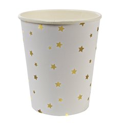 Toot Sweet Gold Stars Party Cup