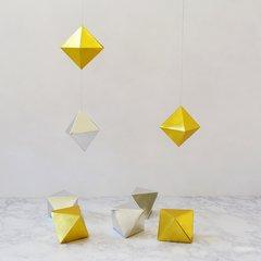 Metallic 3D Origami Gems