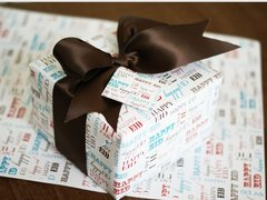 Eid Font Gift Wrap