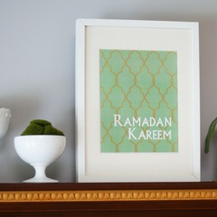 "Decorative ""Ramadan Kareem"" Print-Casablanca"