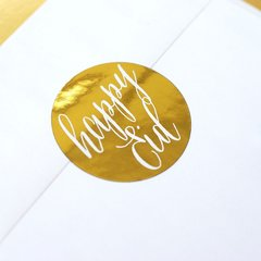 """Happy Eid"" Gold Foil Stickers"