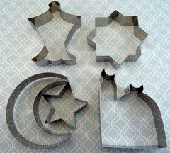 Islamic Shape Cookie Cutters (Set of 5)