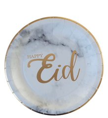 Marble Arabesque Eid Dessert Plates